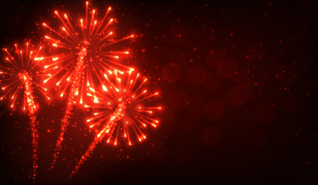 festive: Festive red firework background.
