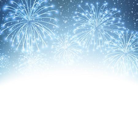 Festive xmas firework background