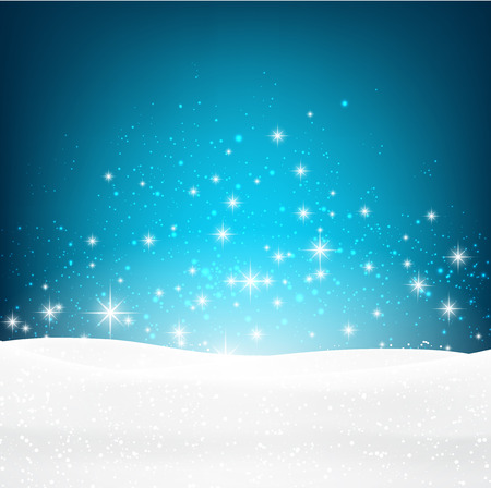 Winter luminous background. Illustration