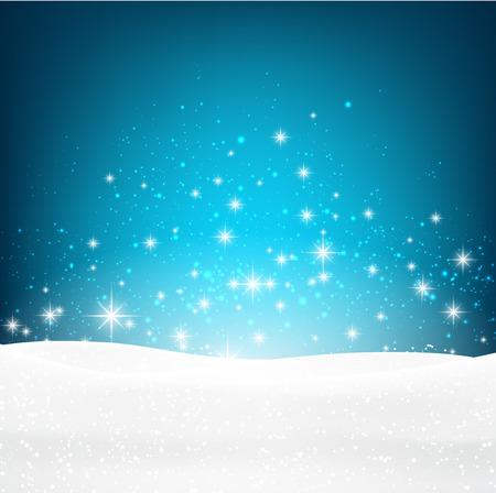 frame design: Winter luminous background. Illustration