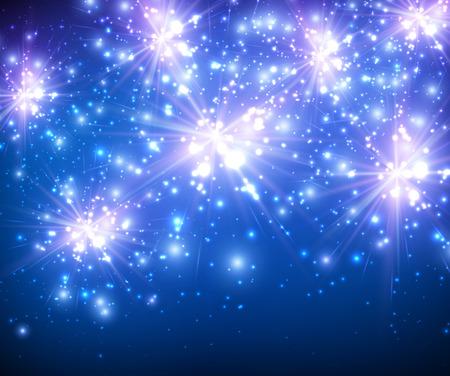 feestelijk: Feestelijke heldere blauwe achtergrond. Stock Illustratie