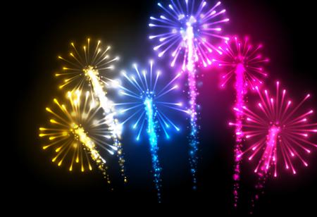 festive background: Festive color firework background.