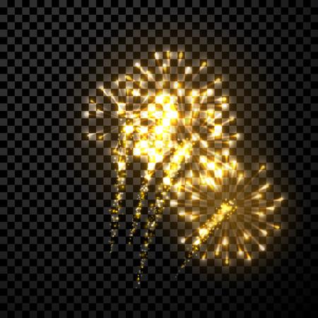 feestelijk: Feestelijke gouden vuurwerk achtergrond.