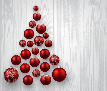 공 크리스마스 나무 배경입니다. 일러스트