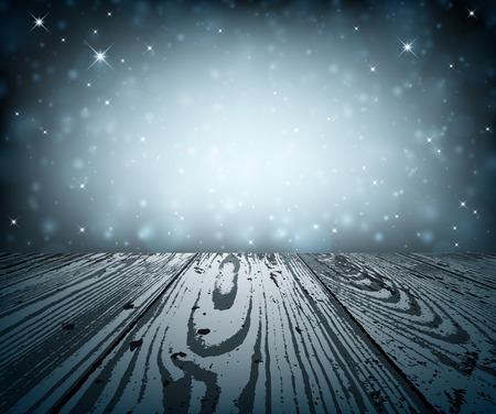 twinkling: Blue shining background. Vector paper illustration.