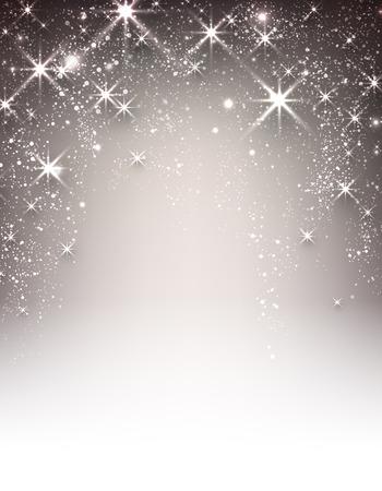winter background: Festive luminous background. Vector paper illustration.