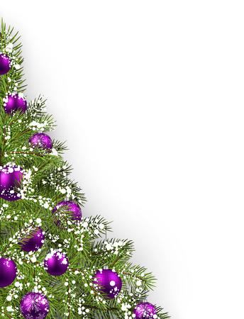 크리스마스 트리와 크리스마스 흰색 배경. 벡터 일러스트 레이 션.
