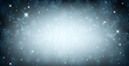 schneeflocke: Winter Hintergrund mit Schneeflocken. Vektor-Illustration. Illustration
