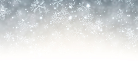 snow white: Winter background with snowflakes. Vector paper illustration.