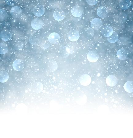 nowy rok: Niebieskie tło świetlnego. Wektor papieru ilustracji.