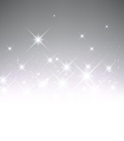 stars  background: Gray luminous background. Vector paper illustration. Illustration