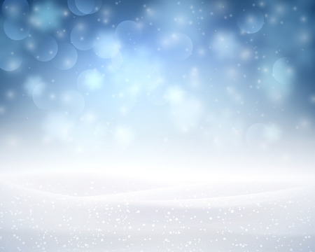 silver: Winter luminous background with snowflakes. illustration.