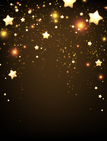 brown background: Background with stars. paper illustration.