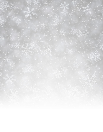눈송이와 겨울 배경입니다. 벡터 종이 그림. 스톡 콘텐츠 - 48087591