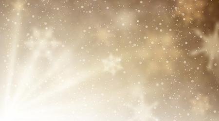 aurora: Winter aurora background. Vector paper illustration.