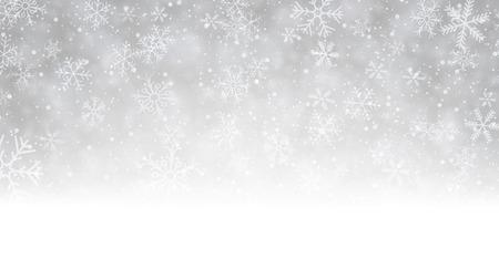 Winter achtergrond met sneeuwvlokken. Vector papier illustratie. Stock Illustratie