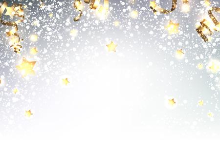 luminous: Festive luminous background. Vector paper illustration.