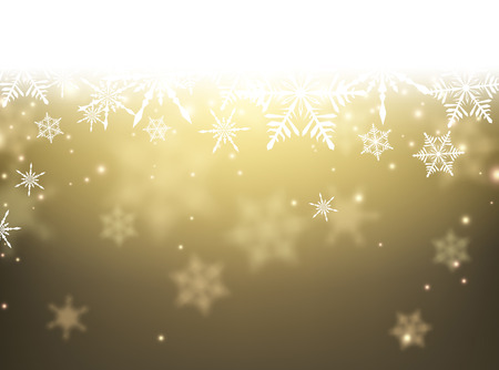 holiday season: Winter card with snowflakes. Vector paper illustration.