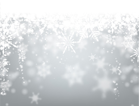Winter background with snowflakes. Vector paper illustration.