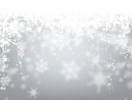 copo de nieve: Fondo de invierno con copos de nieve. Vector de papel ilustración.