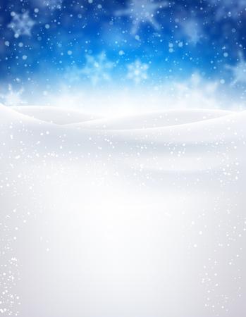 Blauwe winter achtergrond met sneeuwvlokken. Vector illustratie. Stockfoto - 48103627