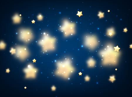 luminous: Blue luminous background with stars. Vector illustration.