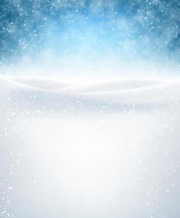 Blauwe winter achtergrond met sneeuwvlokken. Vector illustratie Stock Illustratie