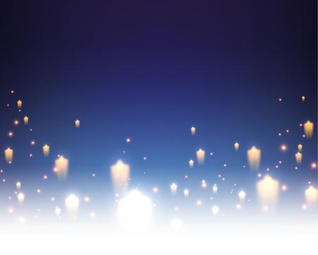 星と青い背景。ベクトルの紙の図。