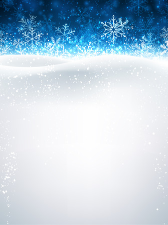 Winter background with snow. Vector paper illustration.