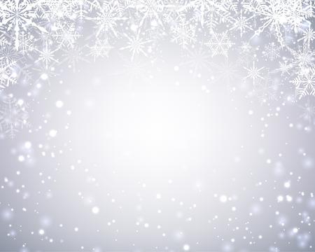 Winter kaart met sneeuwvlokken. Vector papier illustratie.