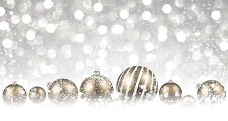 original: New Year background with golden balls. Vector illustration.