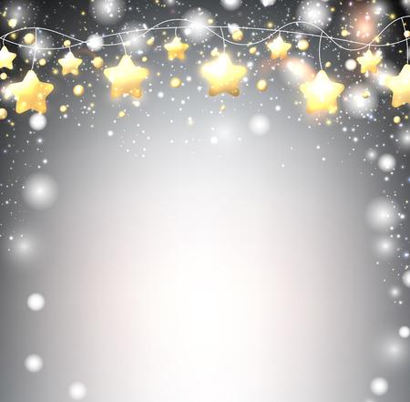 luminous: Luminous background with garland of stars. Vector illustration.