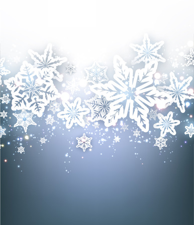winter background: Winter background with snowflakes. Vector paper illustration.