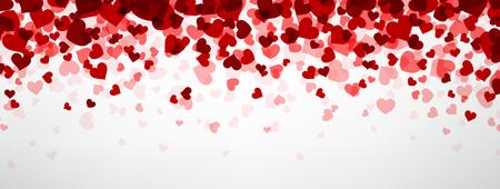 Romantische achtergrond met harten. Vector papier illustratie.
