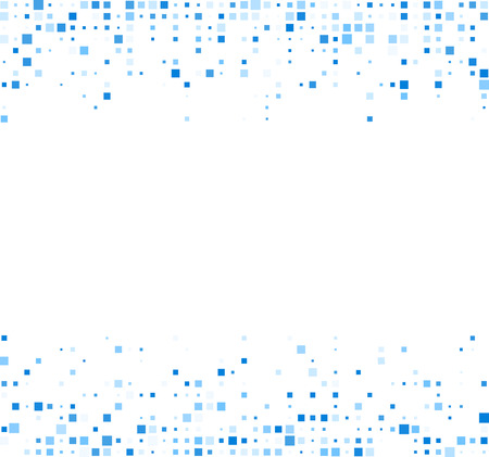 White abstract background with blue squares. Vector illustration. Vettoriali
