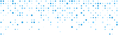 White abstract background with blue dots. Vector illustration.