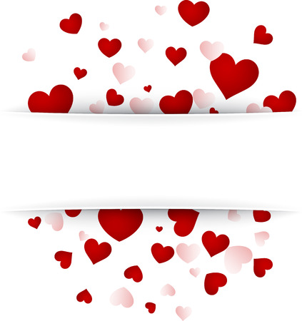 Romantic valentine's background with hearts. Vector illustration.