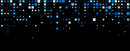 squares background: Black abstract background with blue squares. Vector illustration.
