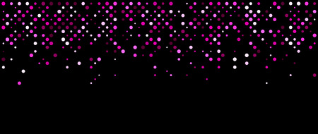 pink and black: Black abstract background with pink dots. Vector illustration.