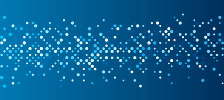 electronic background: Blue abstract background with dots. Vector paper illustration.