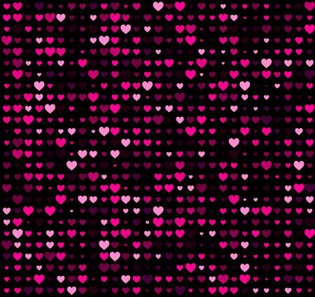 rosa negra: fondo negro con los corazones. Vector ilustración de papel. Vectores