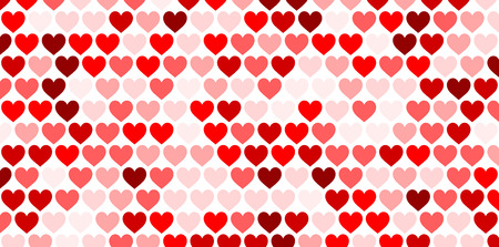 Valentine's love background with hearts. Vector paper illustration.