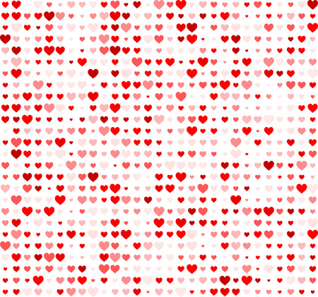 Valentine love background with hearts. Vector paper illustration. Vectores