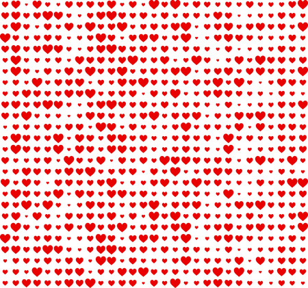 tender passion: Valentines love background with hearts. Vector paper illustration.