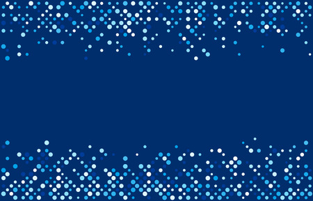 Blue abstract background with dots. Vector paper illustration.