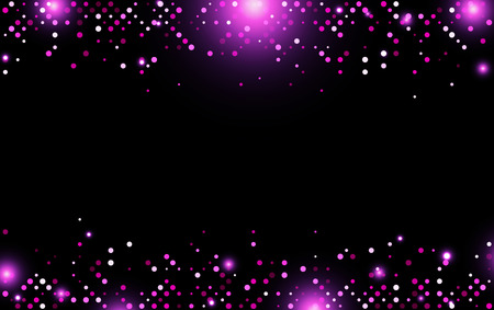 point: Black abstract background with pink dots. Vector illustration.