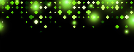 green plus: Black abstract banner with green plus signs. Vector illustration. Illustration