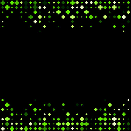 green plus: Black abstract background with green plus signs. Vector illustration.