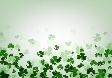 St. Patrick's day background with shamrocks. Vector paper illustration.