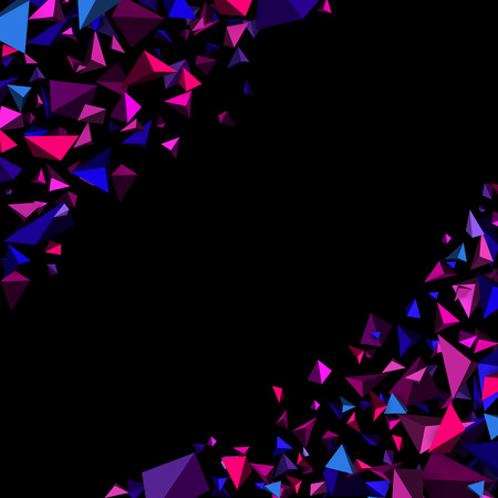 purple abstract background: Purple abstract background with 3d figures. Vector illustration. Illustration